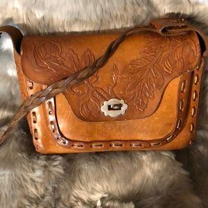 Handbags - Vintage tooled leather purse